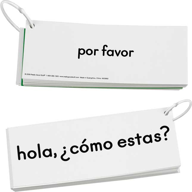 EZread™ Spanish High Frequency Word Phrase Flash Cards Set