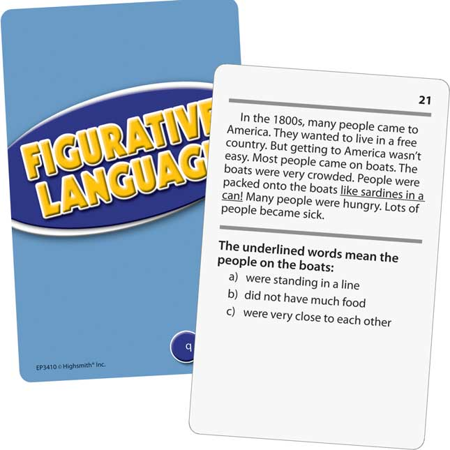 Comprehension Practice Cards: Figurative Language -Level: 3.5-5.0