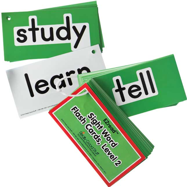 EZread™ Sight Word Flash Cards - Level 2