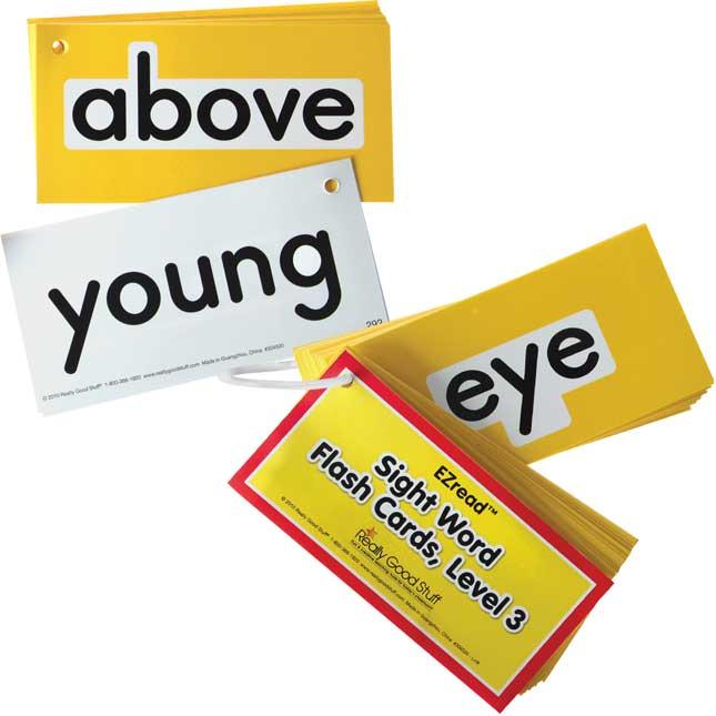 EZread™ Sight Word Flash Cards - Level 3