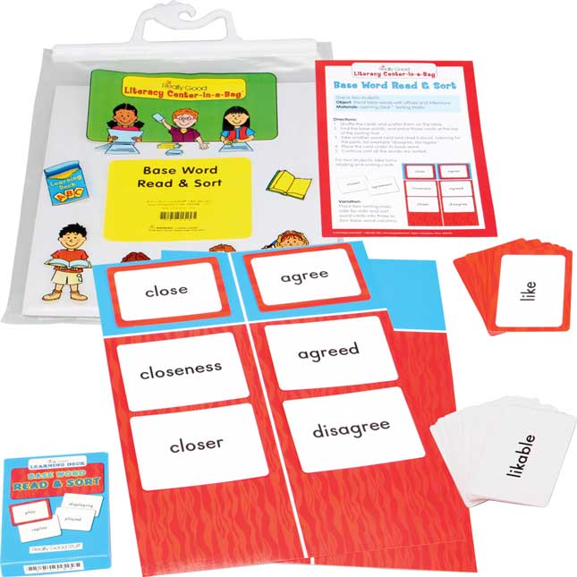 Base Word Read and Sort Literacy Center - Grades 2-3