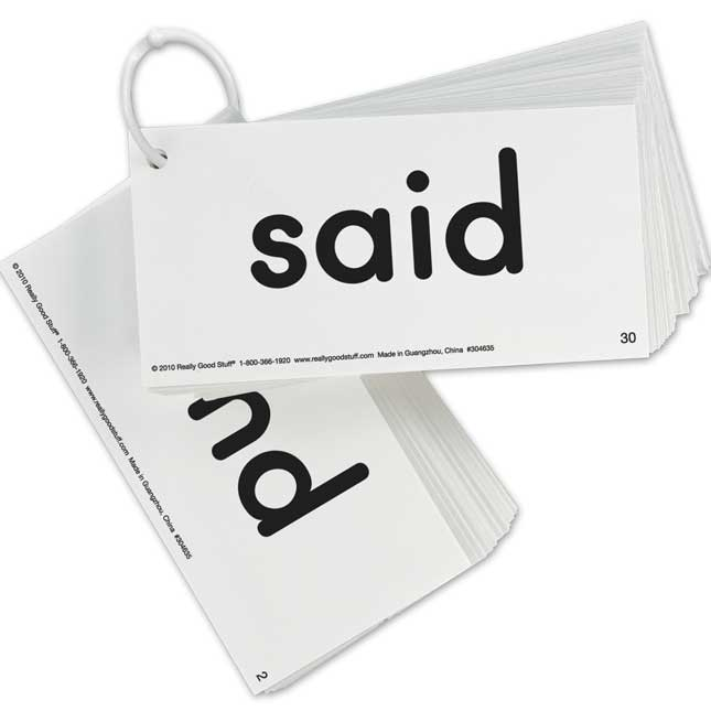 EZread Dolch Pre-Primer Sight Word Flash Cards, Card Size: 6'' x 3'' -  Set of 40 Cards, Grades PreK-1