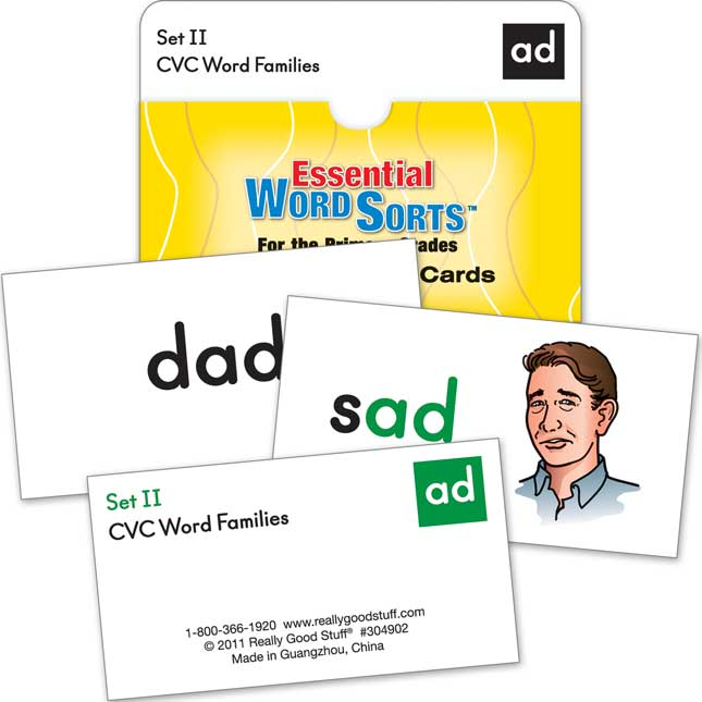 Essential Word Sorts™ Demonstration Cards For The Primary Grades, 2nd Edition