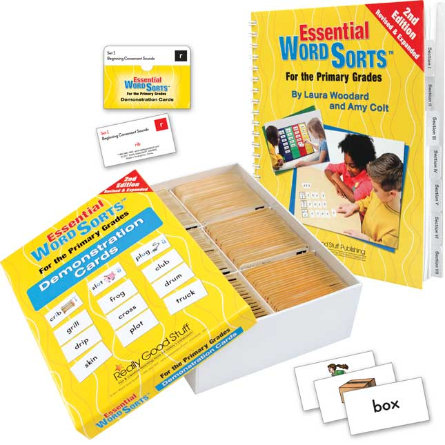 Essential Word Sorts™- Primary Grades, 2nd Edition Book and Cards