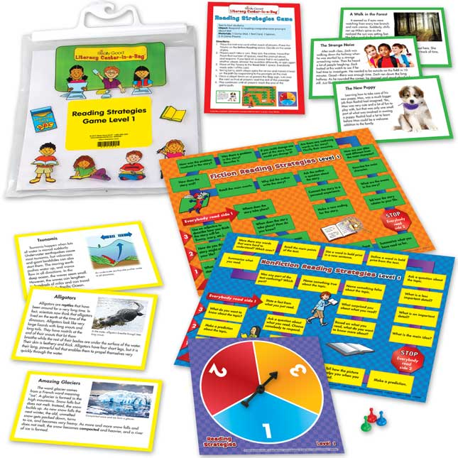 Reading Strategies Game Literacy Center Level 1