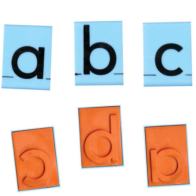 Jumbo Lowercase Alphabet Rubber Stamp Letters - 30 stamps