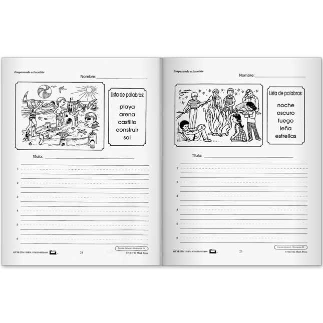 Empezando A Escribir Serie de RedacciA³n Creativa Book - Primer A Tercer grado - 1 book