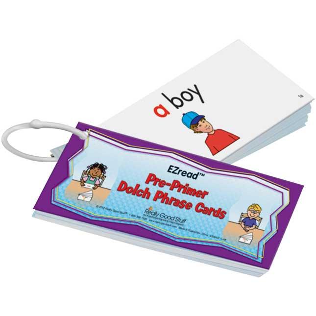 EZread™ Pre-Primer Dolch Phrase Cards