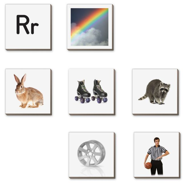 EZread™ Magnetic Photo Tiles: Beginning Sounds - 175 tiles