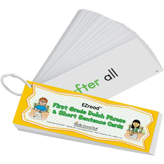EZread™ Dolch First Grade Phrase and Short Sentence Flash Cards