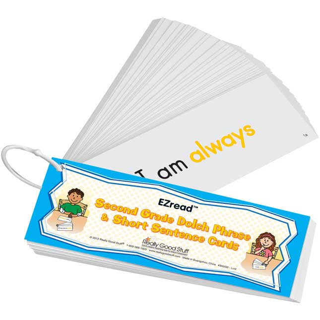EZread™ Dolch Second Grade Phrase and Short Sentence Flash Cards