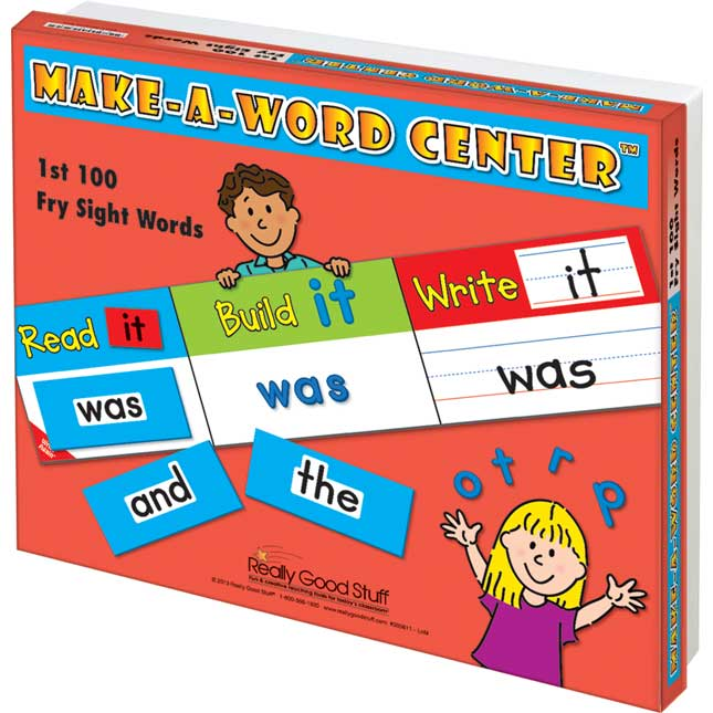 Make-A-Word Center™: 1st 100 Fry Sight Words - 1 center