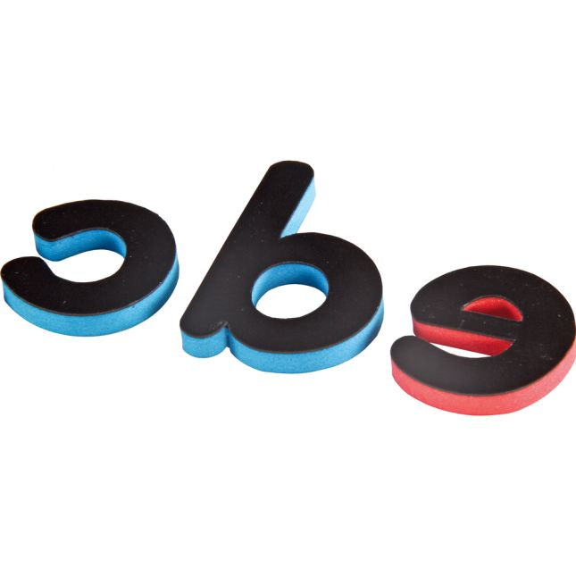 EZread Soft Touch Foam, Color-Coded, Magnetic Lowercase Letters 6 Pack