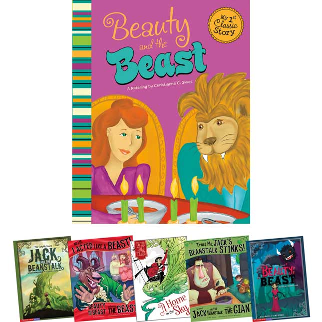 Fairy Tales In Multiple Formats: Jack And The Beanstalk And Beauty And The Beast 6-Book Set