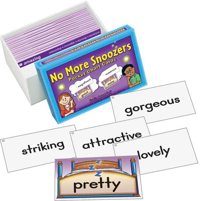 No More Snoozers Pocket Chart Cards