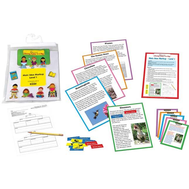 Main Idea Markup Level 1 Literacy Center