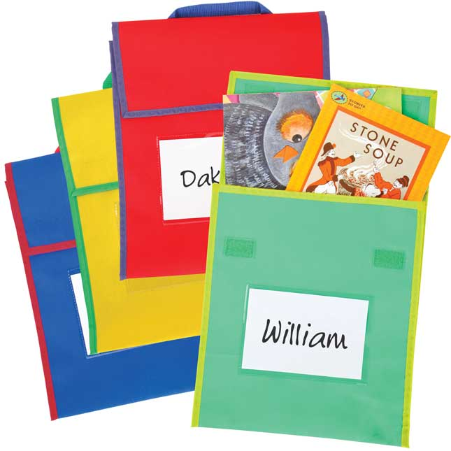 Store More® Medium Book Pouches - Primary Multicolor - Set Of 36