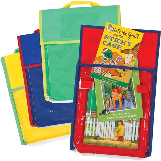 Store More® Medium Clearview Book Pouches - Primary Colors - Set Of 36
