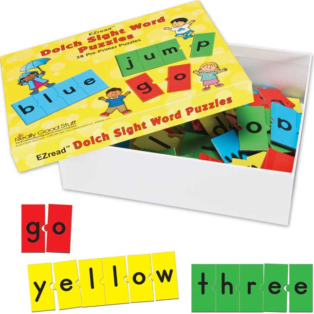 EZread™ Dolch Sight Word Puzzles: Pre-Primer