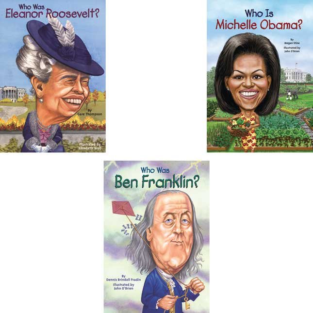 Who Was/Is... Presidents/First Ladies/Famous Leaders - 10-Book Set