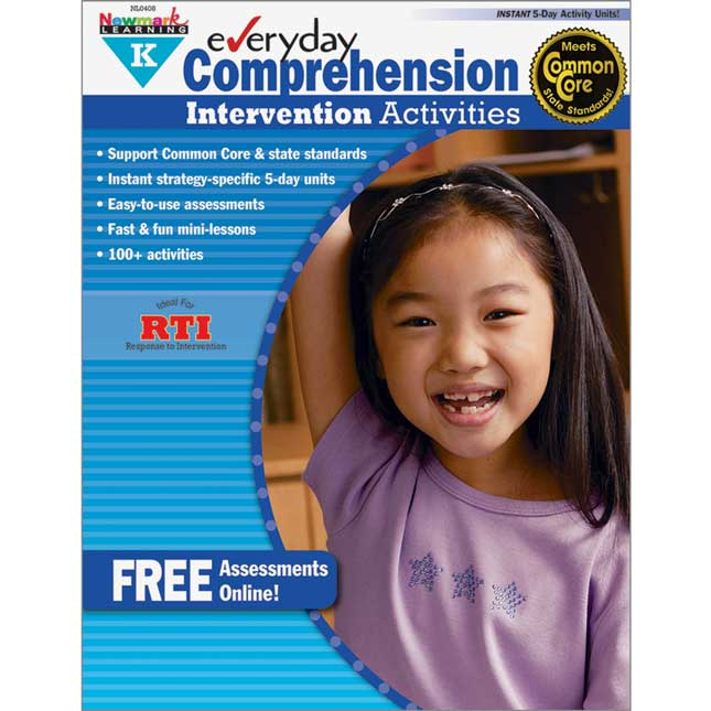 Everyday Intervention Activities For Comprehension Book - Grade K
