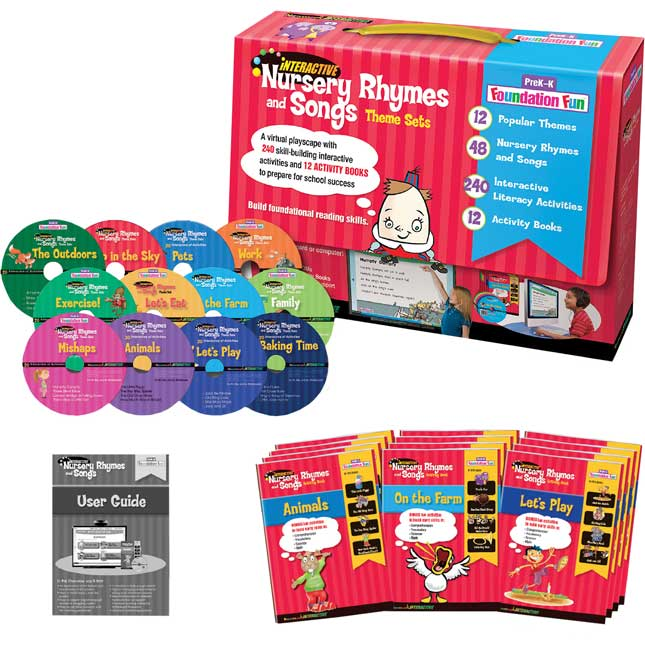Interactive Nursery Rhymes And Songs Theme Set- Grades Pre-K-K