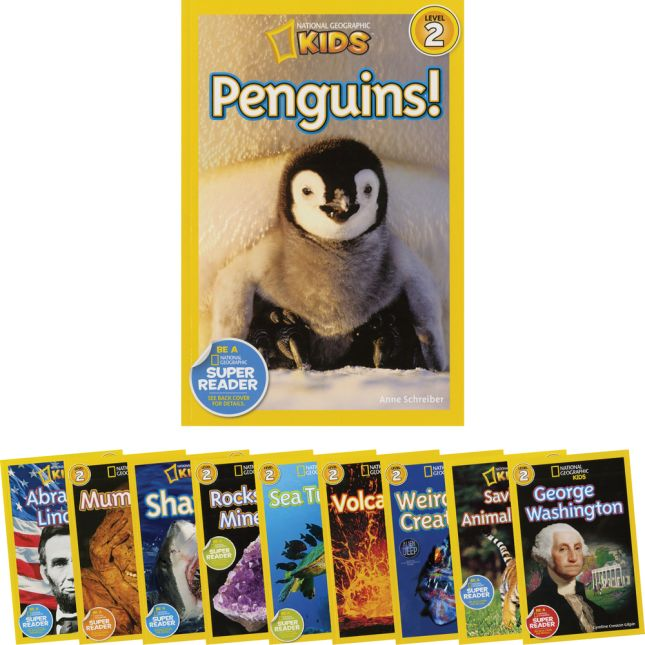 National Geographic Kids Readers Level 2 Set 2 - 10-Book Set