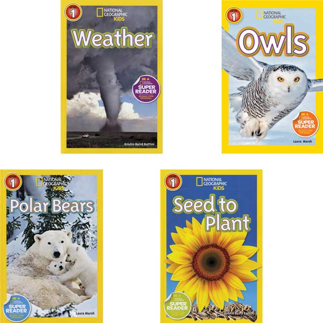 National Geographic Kids Readers Level 1 Set 1 - 10-Book Set