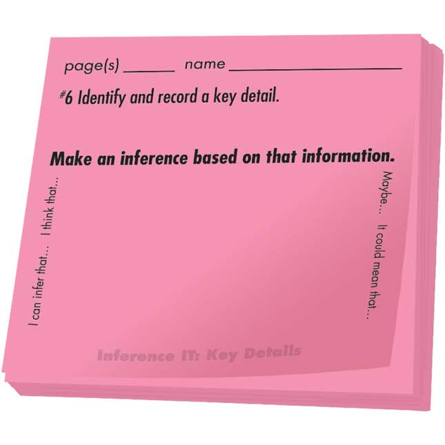 Common Core Study Stickies™: Informational Text Inferences
