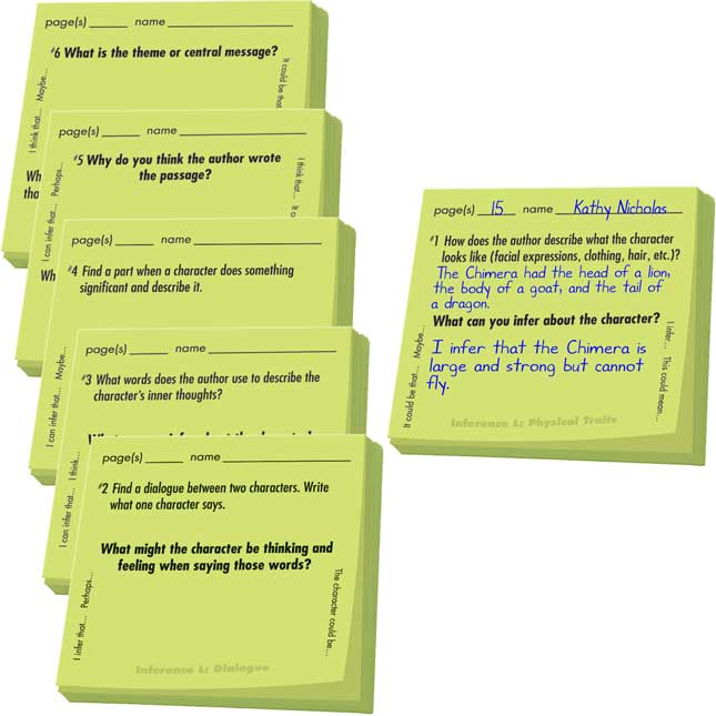 Common Core Study Stickies™: Literature Inferences
