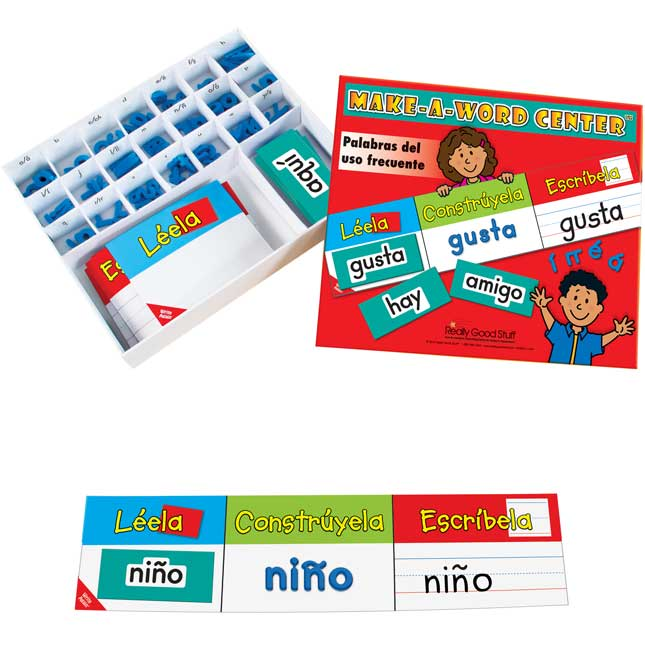 Make-A-Word Center™: Spanish High-Frequency Words - 80 cards, 148 letters