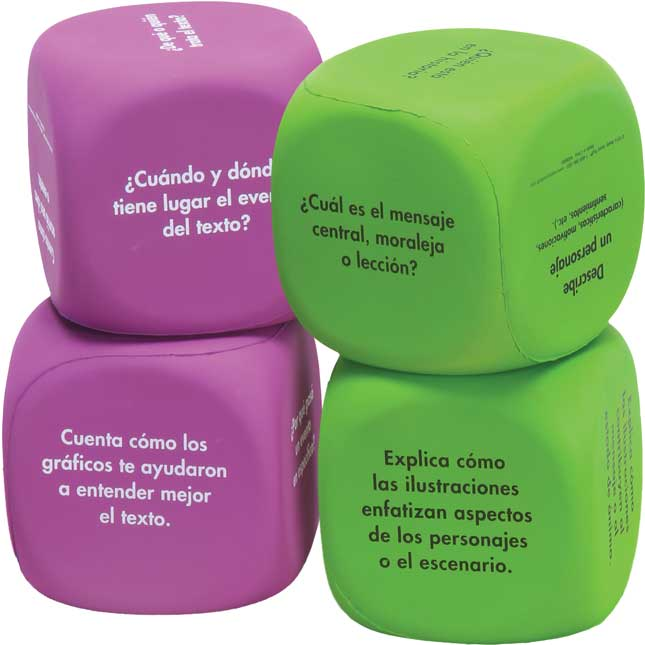 Cubos de comprensión (Common Core Comprehension Cubes) - 4 cubes