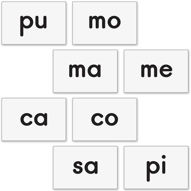 Magnetic Syllable Tile Kit - Spanish