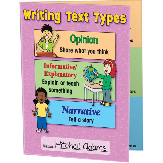 Primary Writing Text Types 3-Pocket Folders