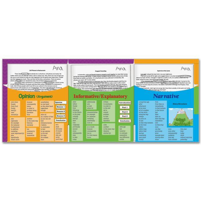 Intermediate Writing Text Types 3-Pocket Folders - 12 folders