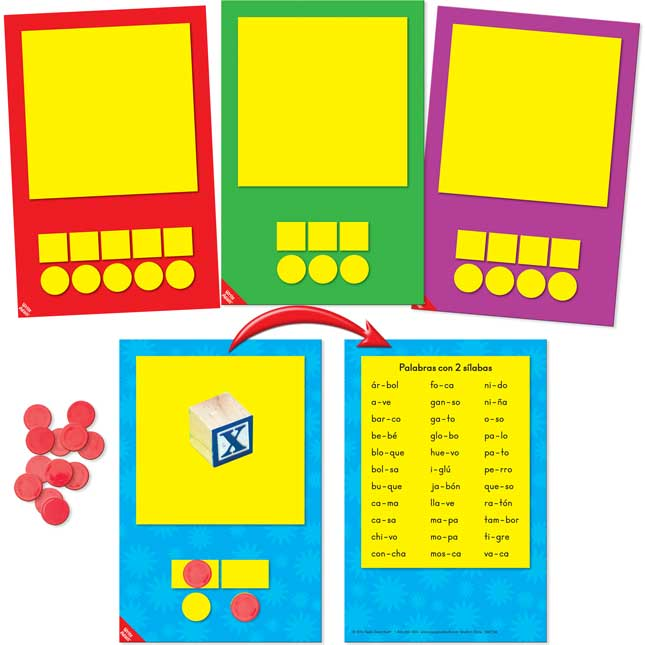 3-D Sound And Syllable Box Objects And Mats Set - Spanish