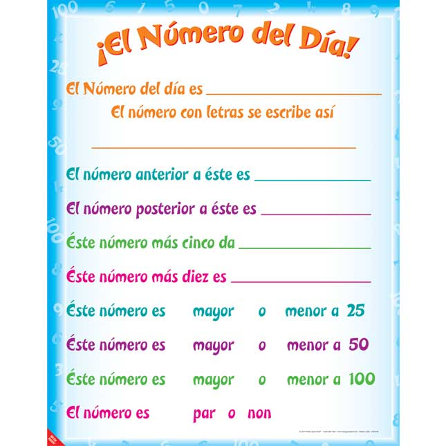 Number Of The Day Poster Dual Language Set