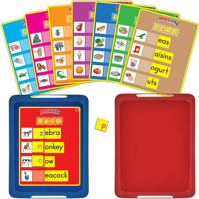 Really Good MAGtivity™ Tins Beginning Sounds Kit - 46 tiles, 16 cards, 2 trays