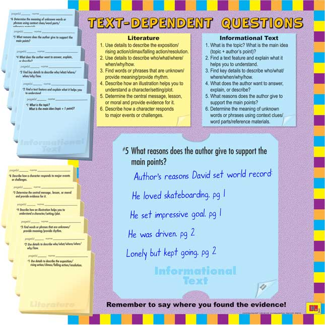 Common Core Comprehension 12-In-1 Poster Set And Study Stickies Kit