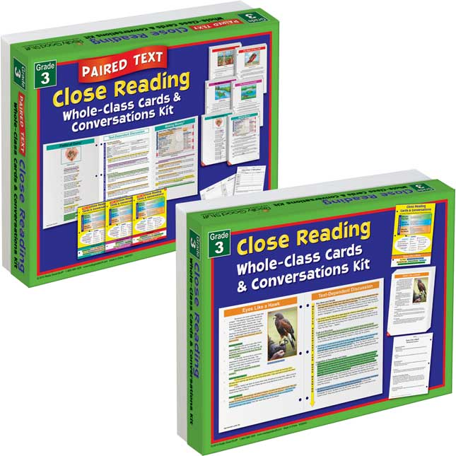 No Prep Close Reading Single and Paired Text Classroom Kit - Grade 3