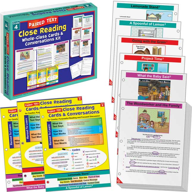 No Prep Close Reading Single and Paired Text Classroom Kit - Grade 4