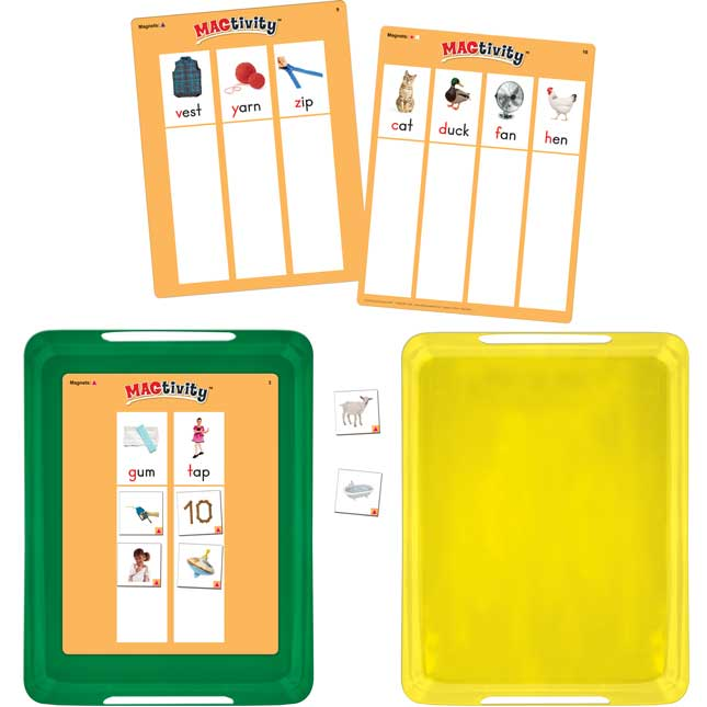 Really Good MAGtivity Tins™ Beginning Sounds Picture Sorting Kit - 60 tiles, 8 cards, 2 trays