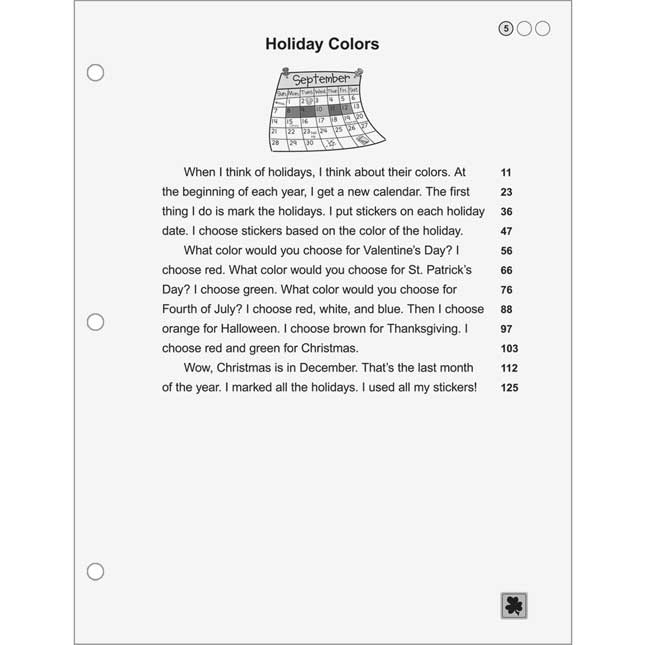 Fluency For Comprehension Holiday And Science Passages - Grade 2