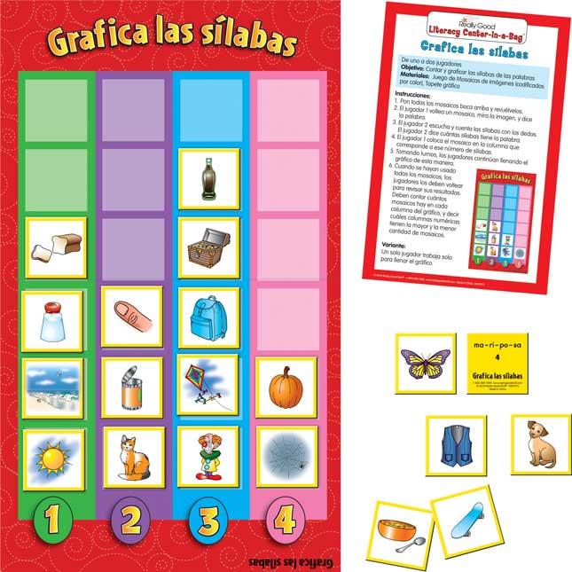 Spanish Graph The Syllables (Grafica Las Silabas)