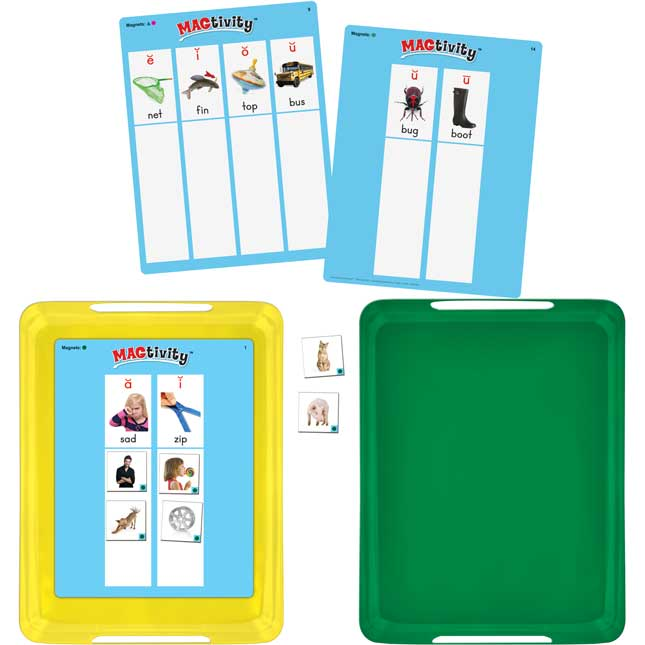 Really Good MAGtivity Tins™ Vowel Sounds Picture Sorting Kit - 60 tiles, 8 cards, 2 trays