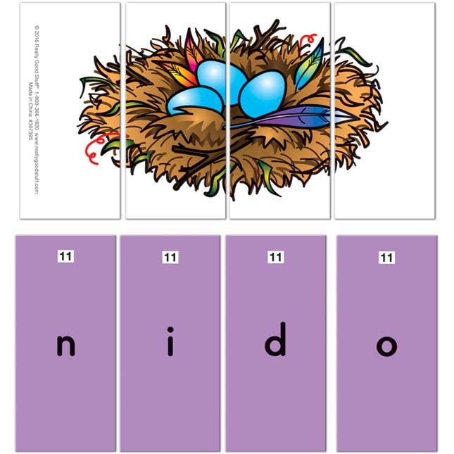 Spanish Phoneme Puzzles (Rompecabezas De Fonemas)