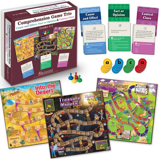 Comprehension Game Trios: Set Of 4 - Grades 2-5