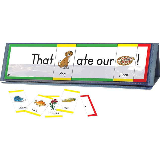 Sight Word Sentence Builders: Dolch Primer Word Cards and Desktop Tents Kit