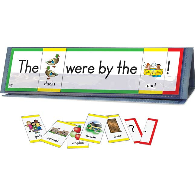 Sight Word Sentence Builders: 1st 50 Fry Word Cards and Desktop Tents Kit