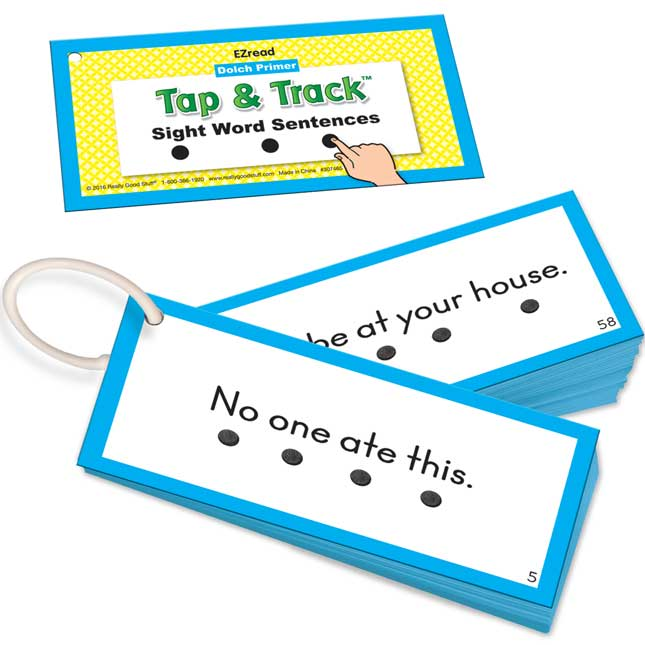 EZRead Dolch Primer Tap and Track™ Sight Word Sentences - 104 cards